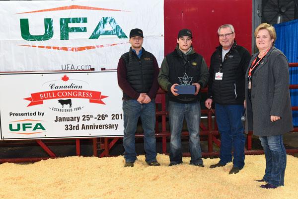 Canadian Bull Congress Marketing Award Rusylvia Cattle Company 2020