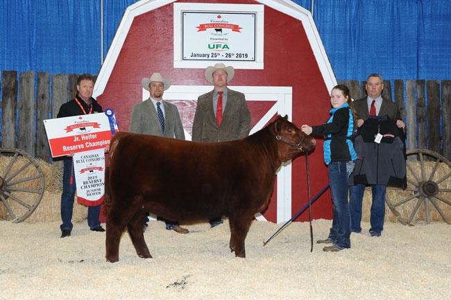 Jr. Heifer Reserve Champion – Lexi Dietrich 2020