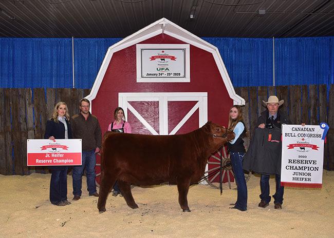 Jr. Heifer Reserve Champion 2020